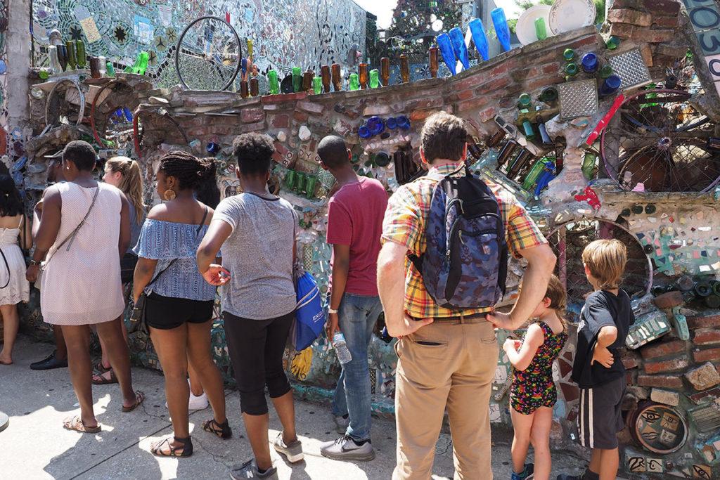 Tourists crowds at Philadelphia's Magic Gardens