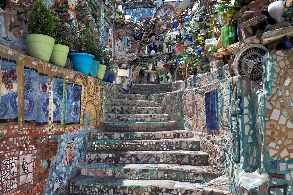 Central stairway at Philadelphia's Magic Gardens