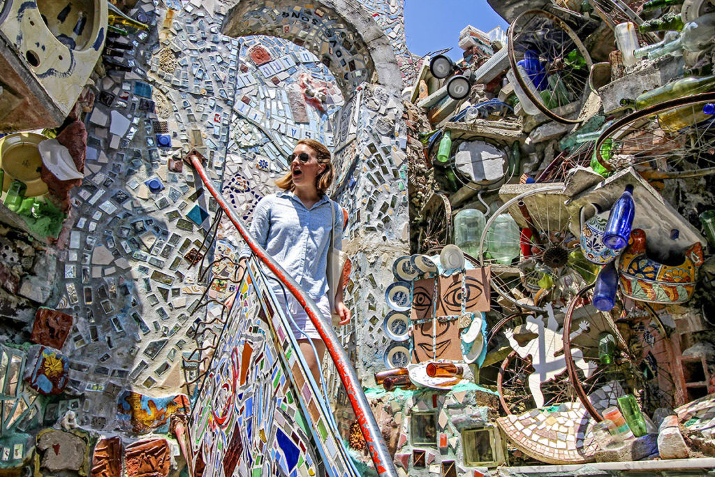 Found objects artworks at Philadelphia's Magic Gardens