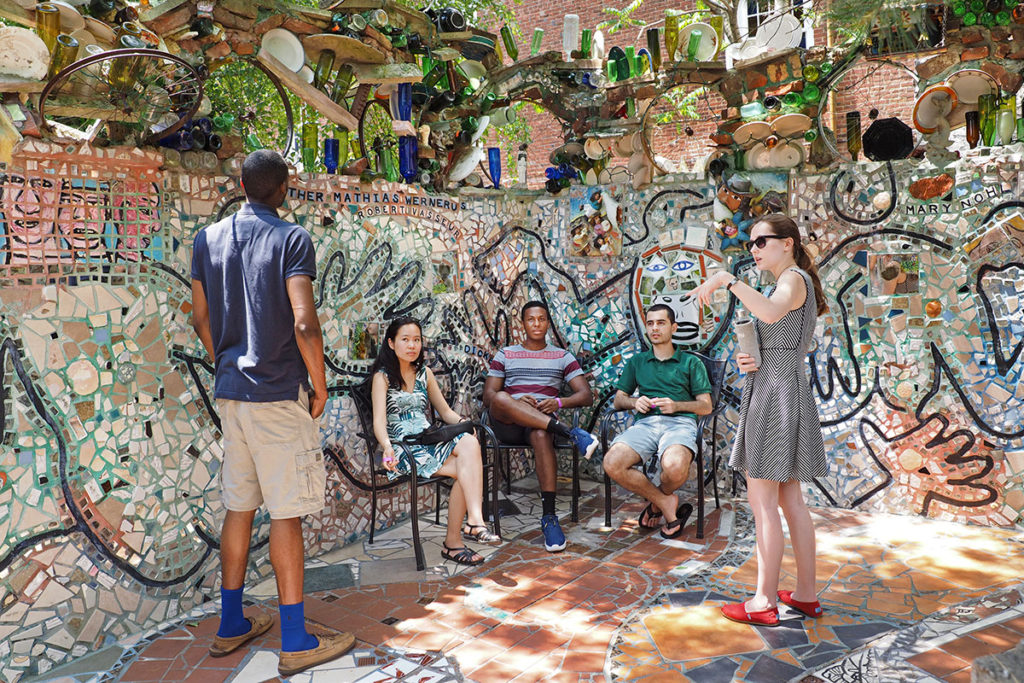 Mosaic covered courtyard at Philadelphia's Magic Gardens