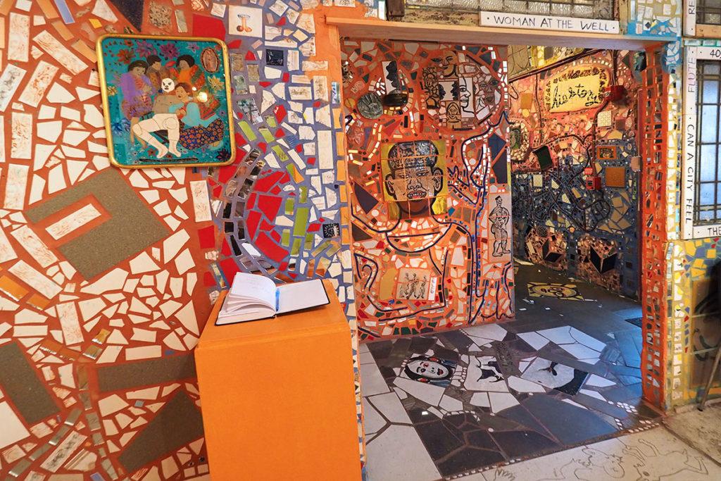 The orange rooms at Philadelphia's Magic Gardens
