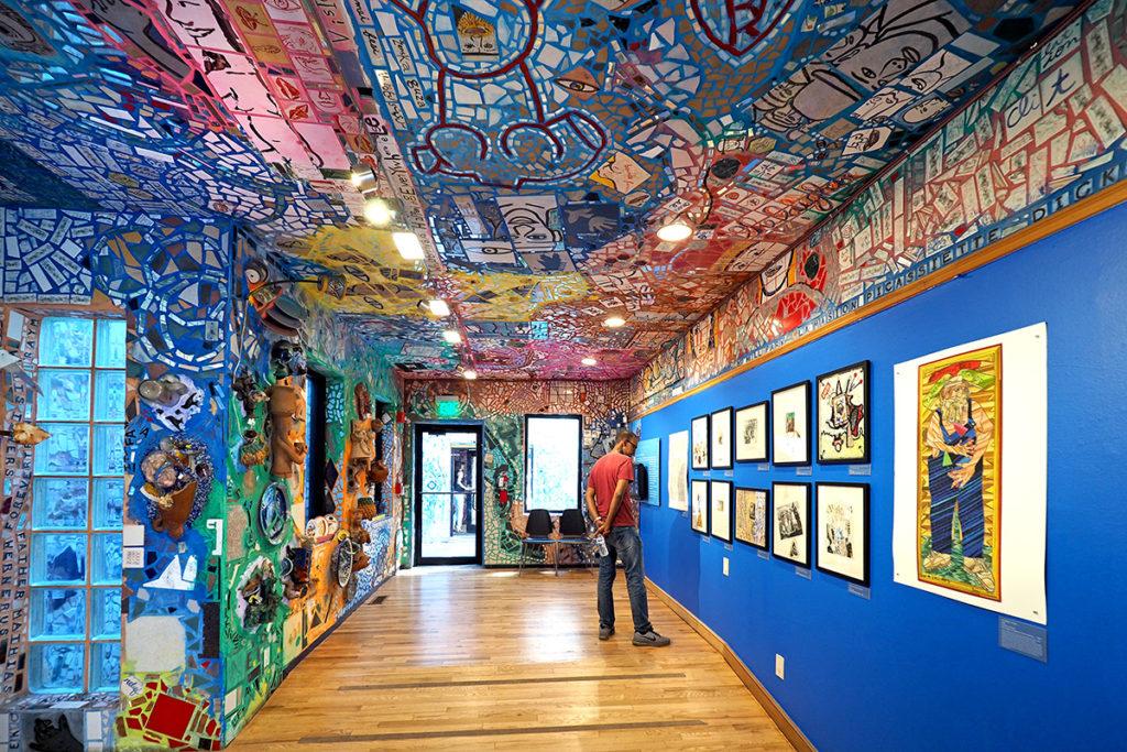 An art gallery at Philadelphia's Magic Gardens