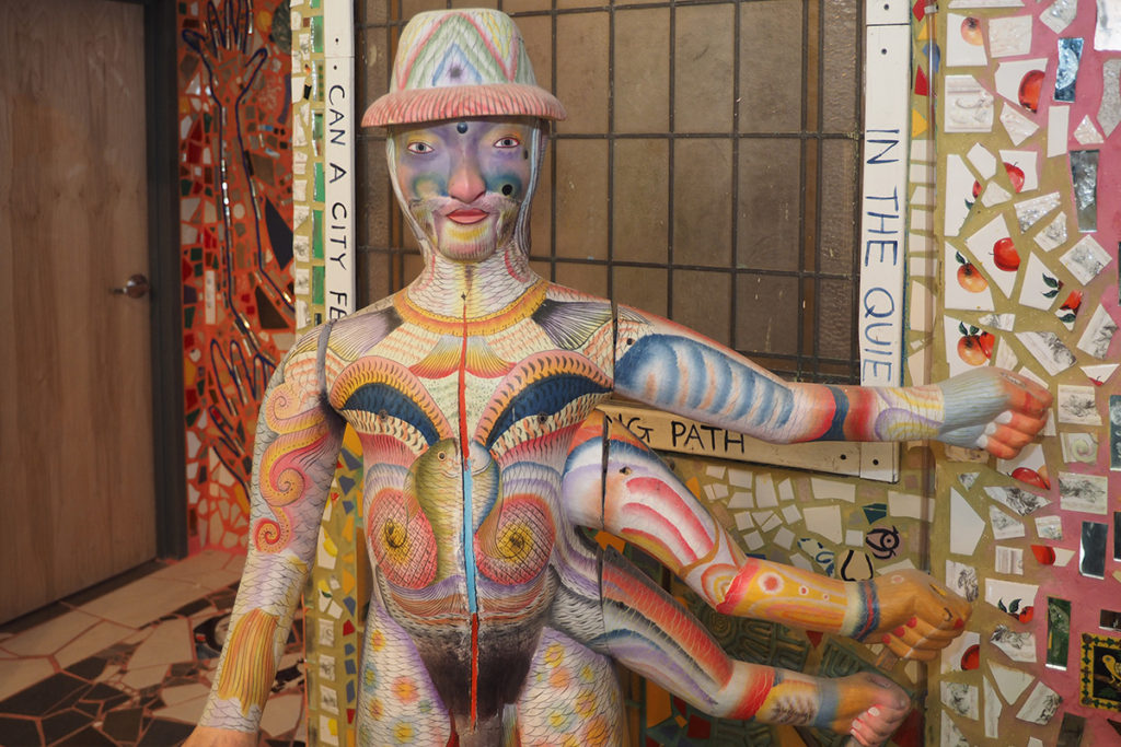 Art gallery exhibits at Philadelphia's Magic Gardens