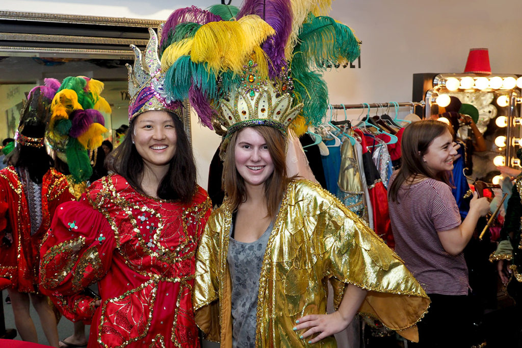 """College student tourists at play in New Orleans's """"costume closet"""""""