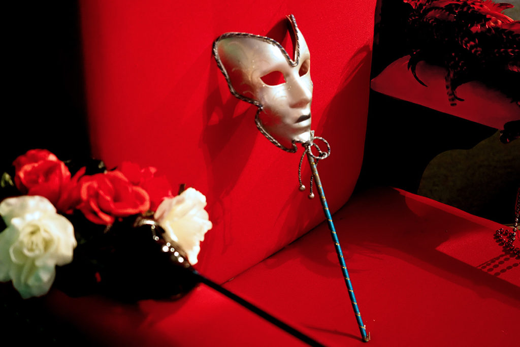 Venetian-style masquerade mask in New Orleans