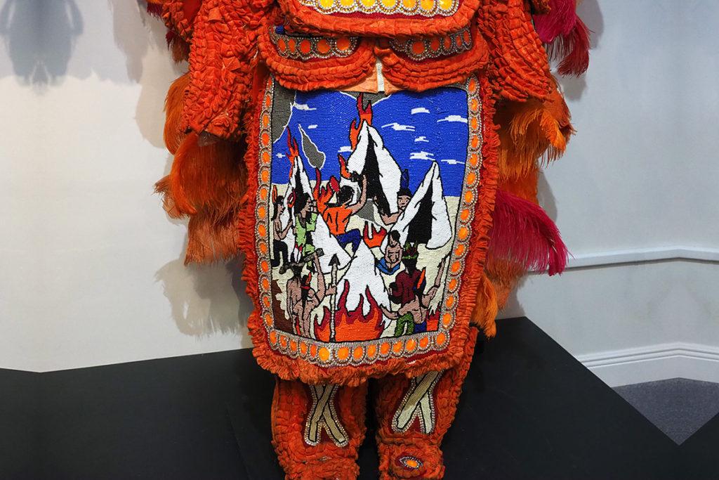 Native American-theme Mardi Gras costumes
