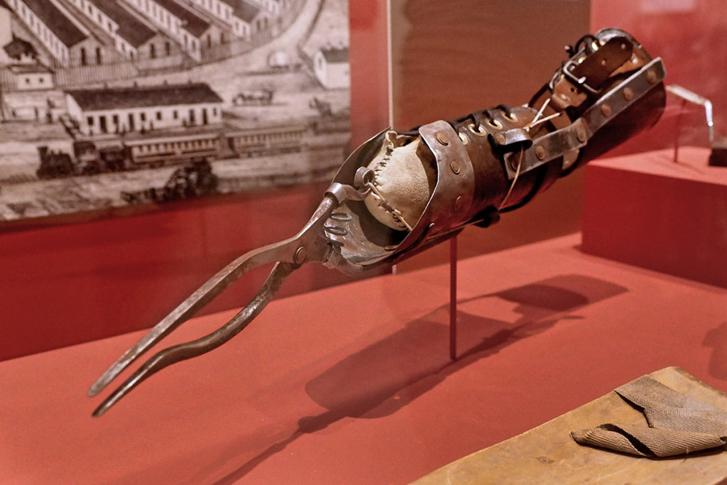 Civil War arm prosthesis.