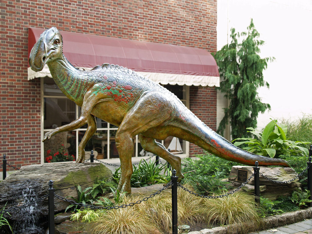 Discovered in 1858, Hadrosaurus foulkii was the first dinosaur skeleton ever mounted for public display 1868.