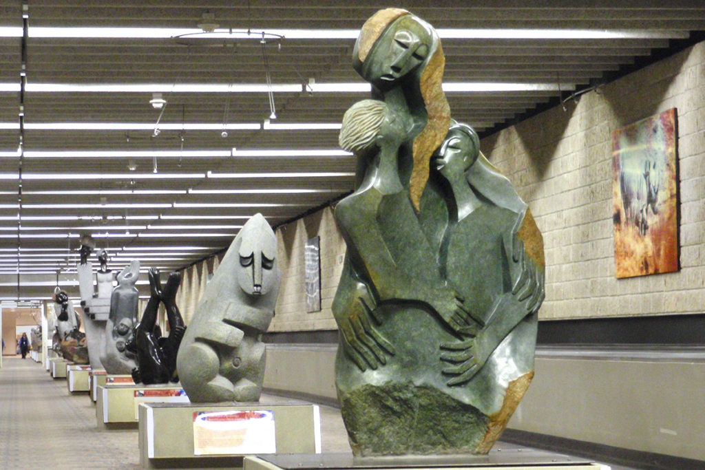 Caring Mother by sculptor Lambeck Bonjisi