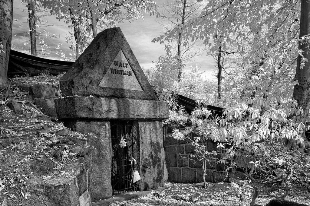 Walt Whitman's tomb in Harleigh Cemetery in Camden, NJ