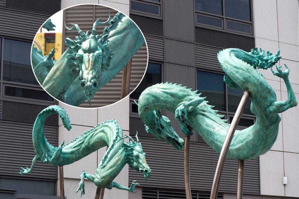 The bronze dancing dragons of Philadelphia's Chinatown