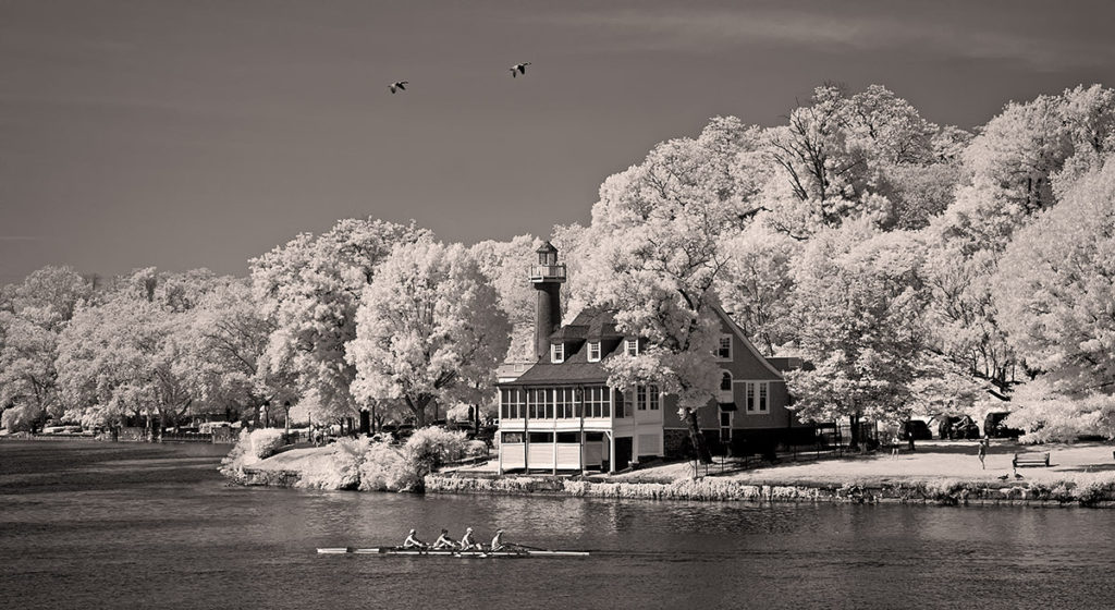 Turtle Rock Lighthouse on the Schuylkill River in Philadelphia