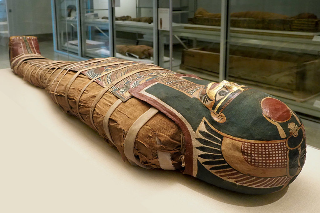 Mummy of a 20-year-old member of Egyptian royalty who died 2,300 years ago.