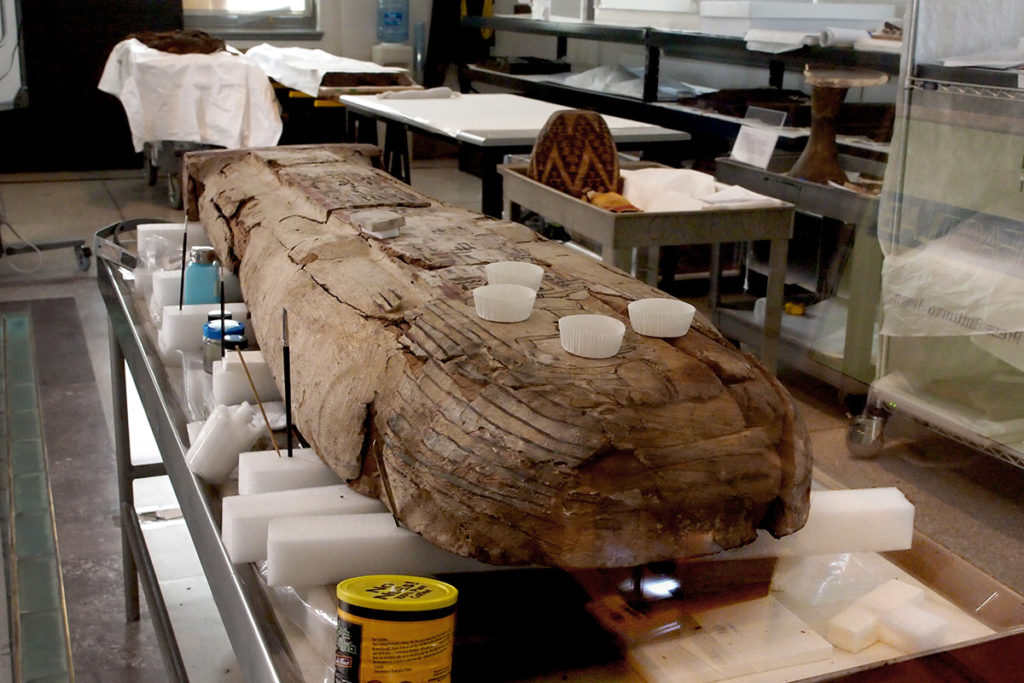 Preserving mummies requires high levels of artistic and mechanical skills.