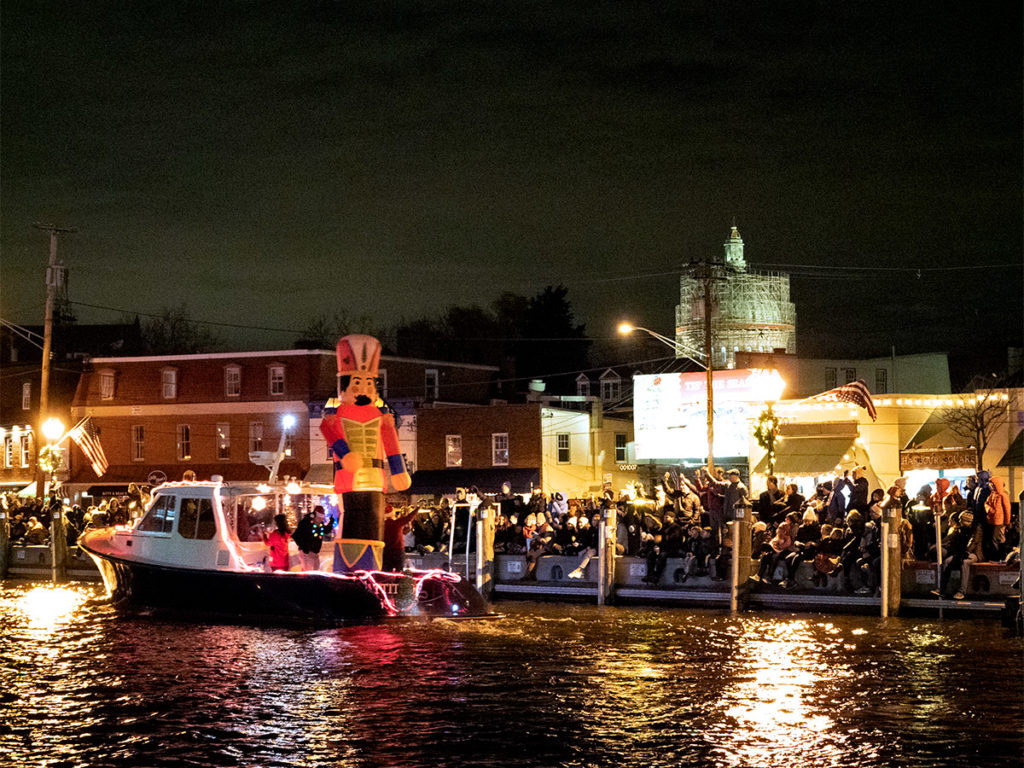 Eastport Yacht Club Lights Parade 2019 Toy Soldier