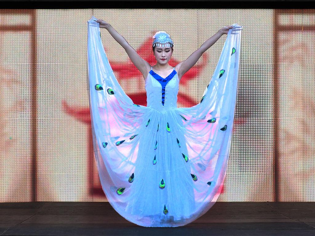 Dancer on stage at Philadelphia Chinese Lantern Festival