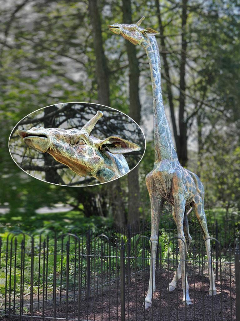 The latest Haddonfield sculpture is a 12-foot high giraffe.