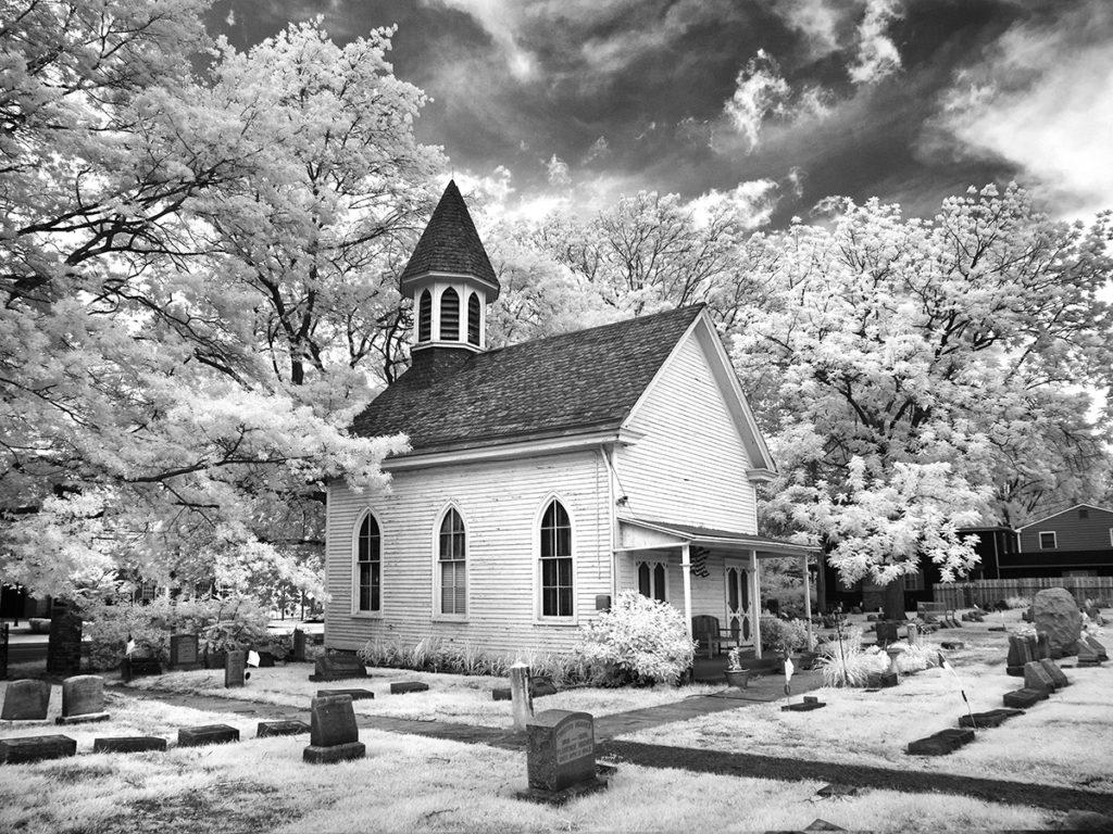 The Baptist Cemetery Chapel in Haddonfield, NJ