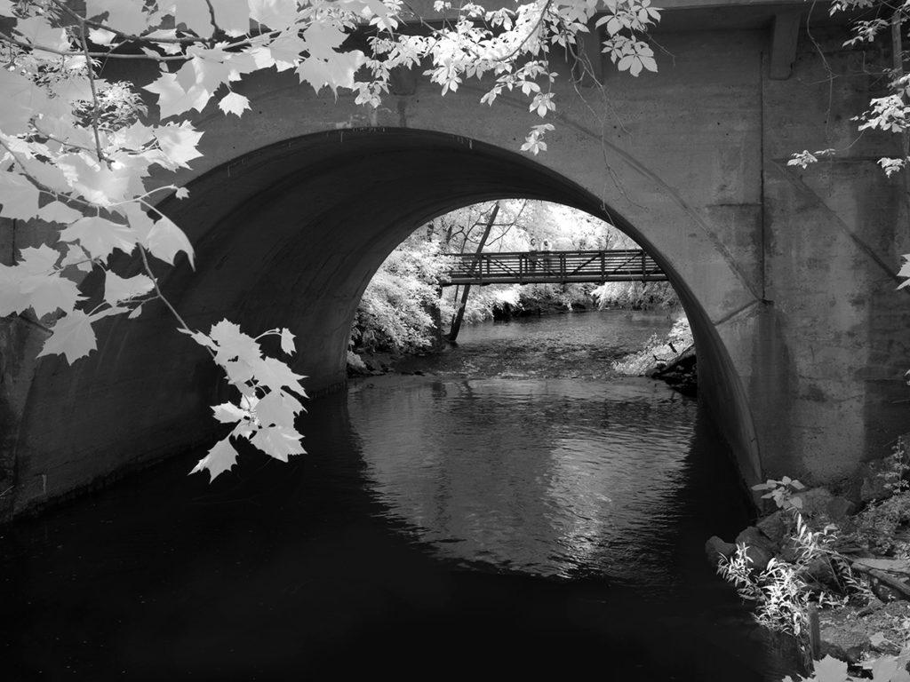 Bridges over the Cooper River in Haddonfield, Camden County, NJ