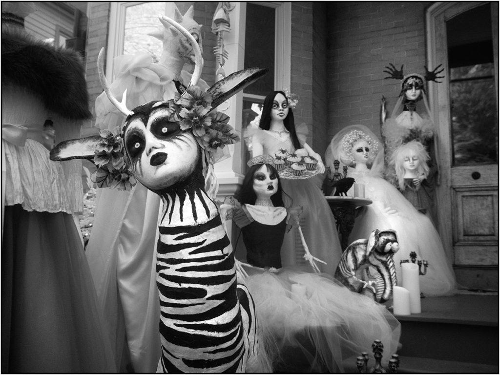 Strange creatures inhabit Lambertville Halloween scene