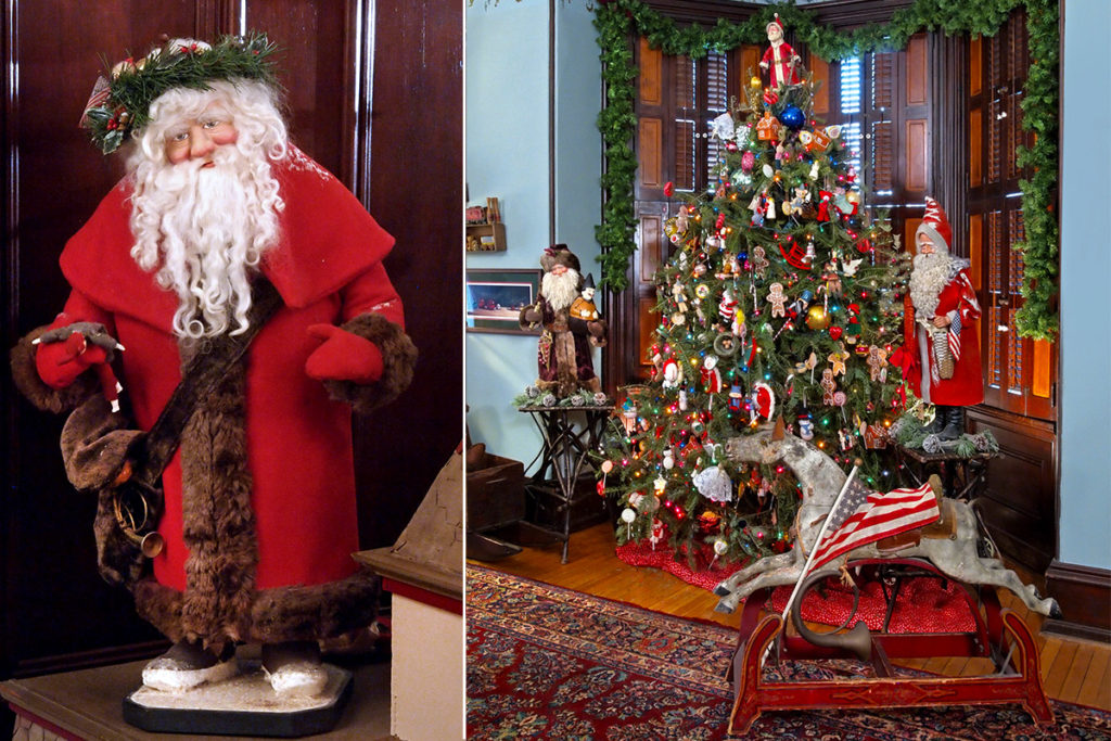 Antique Victorian Christmas decorations and motifs