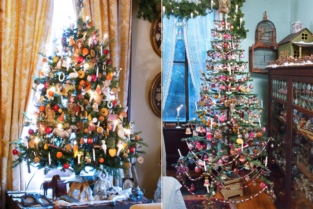 A Prince Albert Christmas tree of the Victorian period