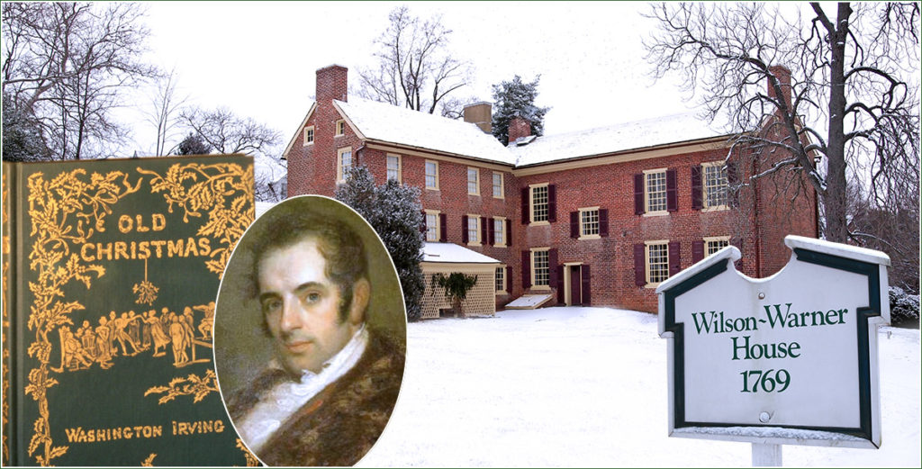 The historic Wilson-Warner house in Odess, DE, staged a Washington Irving Christmas event