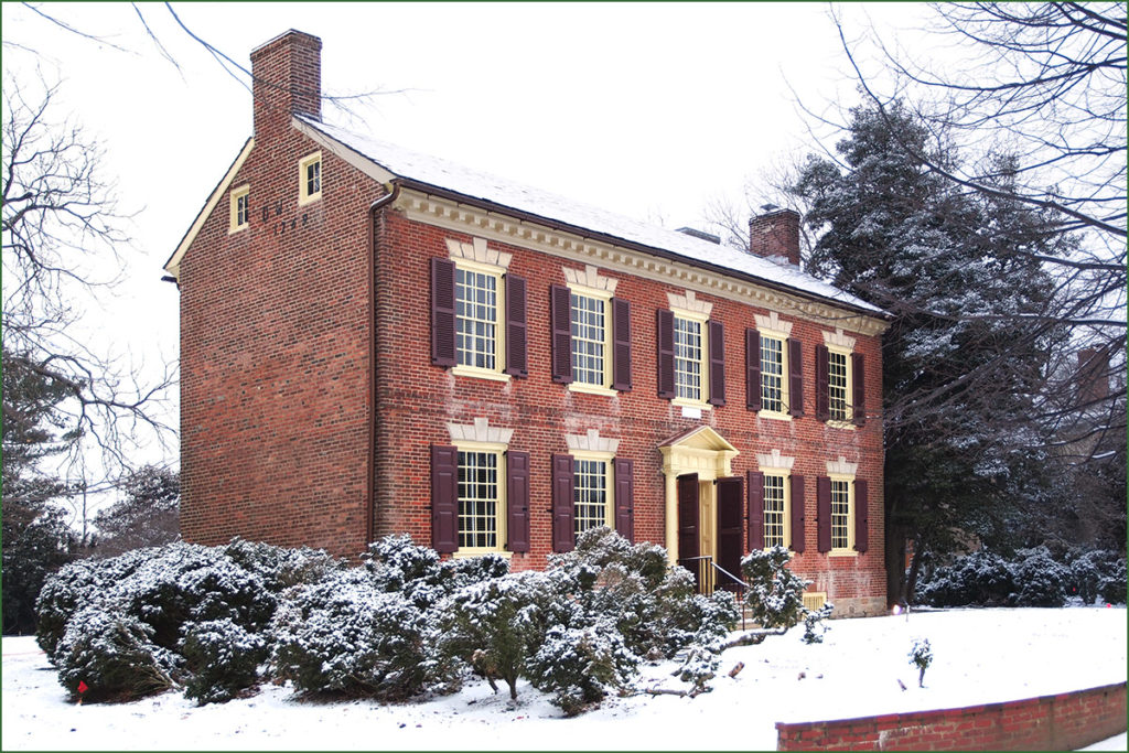 The historic Wilson-Warner house at Odessa, Del.