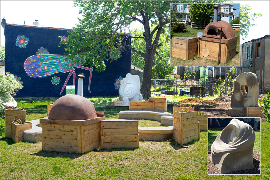 Touching the Earth is a new mini park at Fifth and Eries Streets in Camden by Athena Steen and Josh Sarantitis.